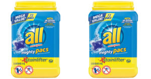 TWO All Laundry Detergent 72-Pac Containers $5.05 Each After Gift Card