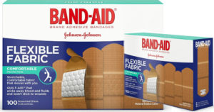 Band-Aid Brand Flexible Fabric Bandages 100 Count Box $4.89