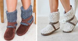 Muk Luks Women's Bootie Slippers $10 Shipped