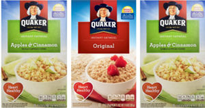 12 Pack Quaker Instant Oatmeal Express Cups $7.04 Shipped