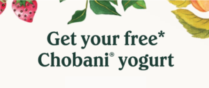 Free Chobani Yogurt!!! Go now!