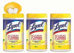 Lysol Disinfecting Wipes 3-Pack $8.40 Shipped