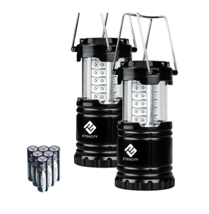 2 Pack Portable LED Camping Lantern Flashlights with 6 AA Batteries just $13.59! (Reg. $29.99)