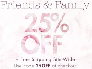 Stila Cosmetics: 25% off Friends & Family Sale + FREE shipping!!!