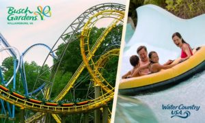 Busch Gardens Williamsburg & Water Country USA 3-Day Tickets Only $50