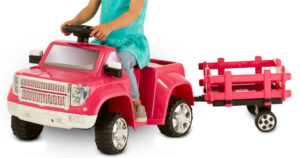 Kid Trax Truck Ride-On w/ Trailer $39 Shipped