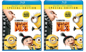 Despicable Me 3 Blu-ray + DVD+ Digital $9.99 (Reg.$22.98)