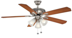 Hampton Bay Brushed Nickel Ceiling Fan w/ Light Kit $26.54 (Regularly $53.08)