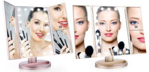 Easehold Tri-Fold LED Lightup Makeup Mirror $12.99 Shipped