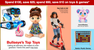 $10 Off $50 Toys & Games Purchase at Target (Online & In-Store)