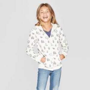 Girls Animal Zip Up Hoodies $8