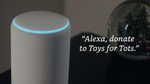 Super Easy Donation to Toys for Tots with Amazon Alexa!